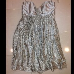 Worn 1x Sweetheart Tube Dress w/ Zebra Stripes Worn Once for Graduation. Cute, fun, and flirty dress with a dash of wild (subtle zebra print) Express Dresses