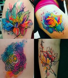 How can someone not love watercolor tattoos?