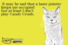 It may be sad that a laser pointer keeps me occupied but at least I don't play Candy Crush. T Play, Cool Cats, Pointers, Crushes, At Least, Sad, Kitty, Cool Stuff, Pets