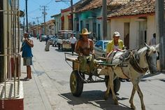 Here's a REALLY old-fashioned vehicle. Ahh, Cuba...