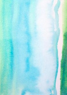 Watercolor Painting - original abstract fine art - shades of blue green - ombre colorblock. $25.00, via Etsy.