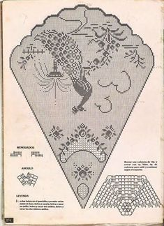 ~ Crochet Style ~: Manteles a crochet: Filet Crochet Charts, Crochet Motifs, Crochet Doilies, Crochet Lace, Crochet Stitches, Crochet Style, Peacock Crochet, Crochet Birds, Crochet Coat
