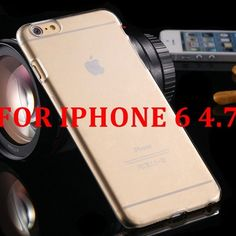 Fashion Crystal Clear Hard Plastic Case For iPhone 6 6S 4.7 For iPhone 6 Plus / 6S Plus 5.5 Slim Transparent Phone Cover Capa