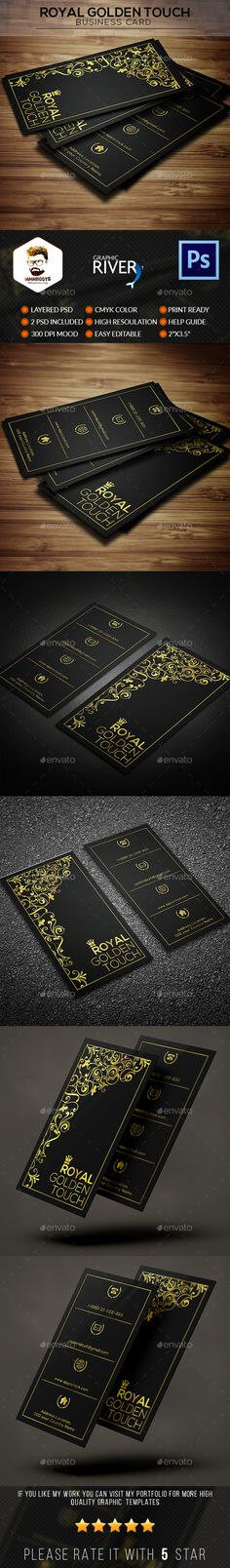 Royal Golden Touch Business Card - Business Cards Print Templates Download here : https://graphicriver.net/item/royal-golden-touch-business-card/17663813?s_rank=37&ref=Al-fatih