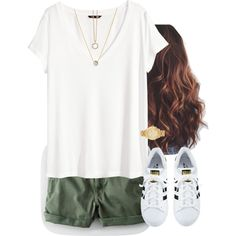 🌿Green🌿 by aweaver-2 on Polyvore featuring polyvore, fashion, style, H&M, adidas, Michael Kors, Links of London, Astley Clarke and clothing