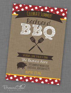 PRINTABLE Backyard BBQ Party Invitation