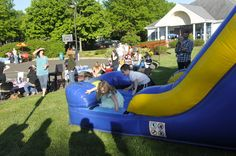 We had a moonbounce at our community fun night.  It was a huge success!