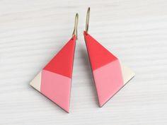Boucles d'oreilles géométriques triangles                              …