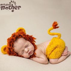 Newborn Photography Props Lion Costume