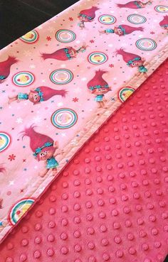 ON SALE  Minky Blanket  Trolls Poppy Cupcake by SimplySplendidCo
