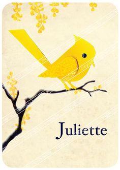 """Geboortekaartje """"Juliette"""" missmoss.be"""