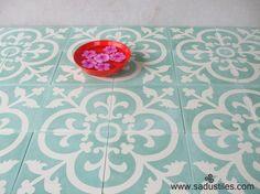 Sadus tiles cement tile motif k-30 in the colors 8A,20