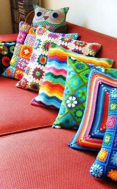 Almofadas de crochê para inspirar e decorar
