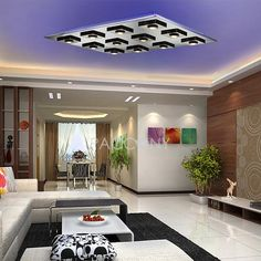 Ultra Thin LED Ceiling Lights Low Carbon Life with 12 LED Lights
