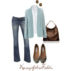 Brown and Blue by kaseyofthefields on Polyvore featuring Warehouse, Steffen Schraut, Reed Krakoff, Rosanne Pugliese and Steve Madden