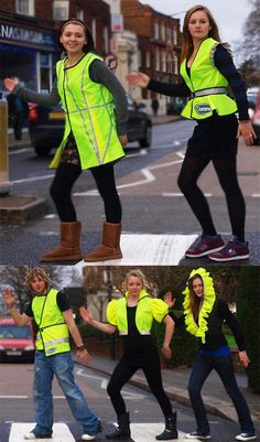 Fashionable safety vests!