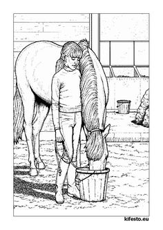 Realistic Horse Coloring Page 1 See the category to find more printable coloring sheets. Also, you could use the search box to find what you want. Horse Coloring Pages, Coloring Pages For Girls, Coloring Pages To Print, Printable Coloring Pages, Colouring Pages, Coloring Sheets, Coloring Books, Free Coloring, Free Horses