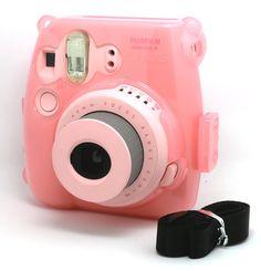 Amazon.com : [Fujifilm Instax Mini 8 Case]-- CAIUL Transparent Crystal Comprehensive Protection Instax Mini 8 Camera Case Bag With PVC Material [Ever Ready Design ] ( Pink ) : Camera & Photo