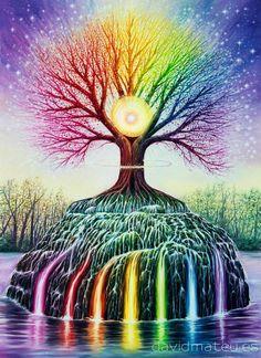 Arte Chakra, Chakra Art, Tree Of Life Art, Tree Art, Psychedelic Art, Art Hippie, Art Visionnaire, Arte Steampunk, Les Chakras