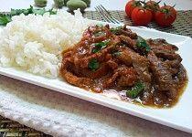 Hovezi nudlicky na zpusob japonskeho Hayashi raisu Beef, Treats, Recipes, Starbucks, Vietnam, Jars, Asia, Cooking, Parisian