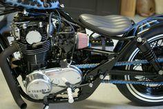 brat bobber by visual impact - bikerMetric Xs650 Bobber, Bobber Motorcycle, Bobber Chopper, Custom Motorcycles, Custom Bikes, Cars And Motorcycles, Sidecar, Cool Bikes, Hot Wheels