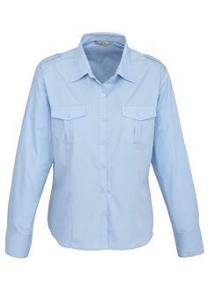Code: BCS117LL Name: Ladies Eppaulette Long Sleeve Shirt BCS117LL Size: 20 | 22 | 8 | 14 | 16 | 10 | 12 | 6 | 18 | 24 Available Colours: Blue | Black | White De