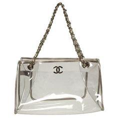 Chanel transparent clear bag