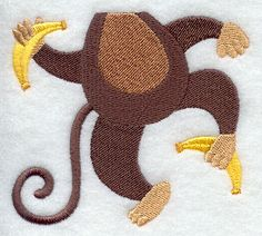 Bib Buddies - Monkey design (H5248) from www.Emblibrary.com