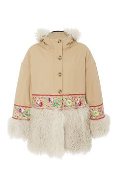 Shearling Penny Lane Coat by RED VALENTINO for Preorder on Moda Operandi