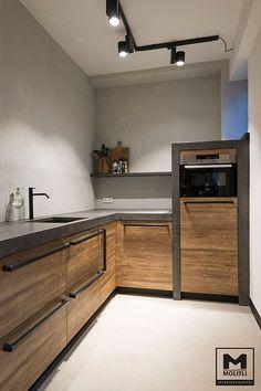 Küchenstudio Kitchen Decoration how to decorate kitchen walls Studio Kitchen, Kitchen Room Design, Home Decor Kitchen, Interior Design Kitchen, Home Kitchens, Kitchen Ideas, Diy Kitchen, Loft Kitchen, Eclectic Kitchen