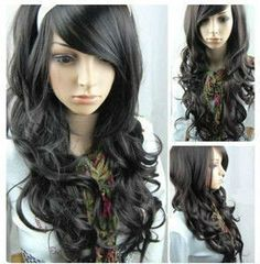 NEW long curly Freedom curly heat resistant cosplay Party wig wigs +wigs hairnet