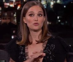 So rude: Natalie Portman revealed she was glad to be back living in the US after having to endure the 'coolness' of the grumpy French on Jimmy Kimmel Live on Thursday
