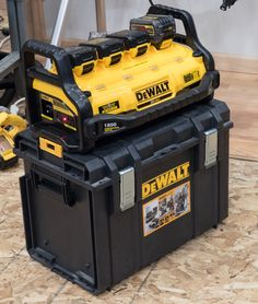 The Dewalt Portable Power Station is, in 2 words, freakin' awesome. Dewalt Storage, Tool Storage, Easy Woodworking Projects, Woodworking Tools, Popular Woodworking, Woodworking Furniture, Wood Projects, Dewalt Tough System, Dewalt Power Tools