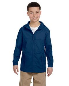 Harriton Youth Essential Rainwear M765Y NEW NAVY