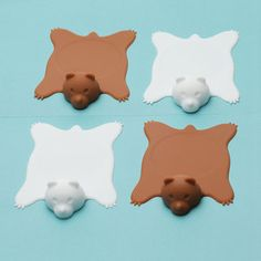 Bear Rug Coasters now featured on Fab.  @Courtney Baker Baker Olsen perfect for Alaska parties :p