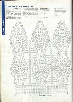 Handicraft: Patterns for beaded curtains / Crochet curtain patterns Crochet Blocks, Crochet Borders, Crochet Diagram, Crochet Stitches Patterns, Crochet Chart, Thread Crochet, Filet Crochet, Crochet Scarves, Crochet Motif