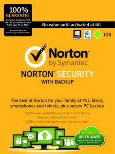 Norton Security gives you the freedom to pursue your life online, experiencing everything it has to offer, without fear. We arm you with the tools to protect yourself, your family, your business and your data, so you can go boldly, not blindly. Tools you need to get your PC running like new with 24/7 telephone & live chat customer support. Get your product with full technical support http://www.nortonhelp.me