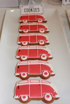 What? I NEED this cookie cutter - oh and someone to decorate them. Vintage VW bus cookies