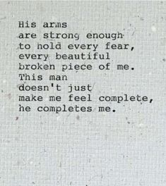 <3 A woman should feel this with their man maybe not always(lies) but very often. Ik I try to be there for her..