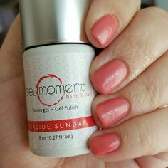 GelMoment Seaside Sundae is beautiful for spring and summer! The perfect peachy pink! Visit my Facebook page to learn more about GelMoment products and the GelMoment business opportunity!