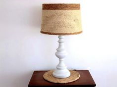 Drum Style Lampshade Beach Nautical Coastal Decor lamp shade Natural woven sisal rope table lampshade Ocean decor light fixture shade