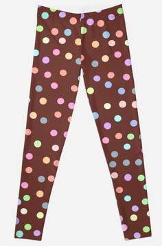 'chocolate Glaze with sprinkles' Leggings by EkaterinaP Chocolate Sprinkles, Chocolate Glaze, Gothic Leggings, Pajama Pants, Trending Outfits, Room Decor, Trends, Party, Fashion