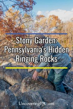 Stony Garden: Bucks County, Pennsylvania's hidden ringing rocks field via Hiking Places, Places To Travel, Places To See, Weekend Trips, Day Trips, Pennsylvania History, Rivers And Roads, Best Travel Guides, Bucks County
