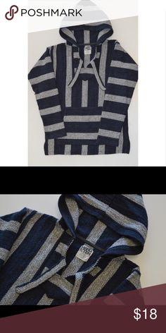 Hang Ten Rug Hoodie Baja Hoodie Good Condition size Small Jackets & Coats