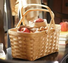 The basic Longaberger basket ... Market Basket with swing handles ... Love it!