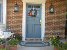 front door and shutters are painted in Bluecoat by Duron