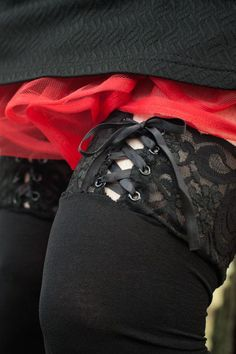 07420865f1 Semi-opaque black over the knee stockings with a pretty ribbon lace-up top  that can be worn in the front or in the back. Their simplicity belies their  ...