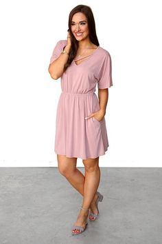 """MATERIAL: 70% Modal 30% Polyester BUST: Measured laying flat. Size Small measures 20"""", Medium measures 21"""", Large measures 22"""" LENGTH: Size Small measures 26"""", Medium measures 27"""", Large measures 28"""" WAIST: Loose fitting waist, great for those with a trouble waist area. HIPS: Loose fitting, plenty of room for movement. UNDERGARMENTS: Standard bra works perfectly! FABRIC: Fabric contains no stretch. CARE: Hand wash cold, Line dry Lauren is 5'6"""", 36DD and..."""