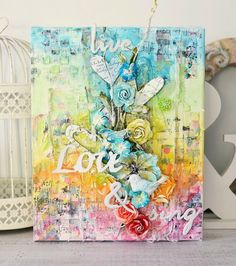 Hi readers! Happy Wednesday to you! I fell in LOVE with this gorgeous canvas creation by Stacey...