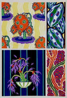 E.A. Seguy -pochoir prints